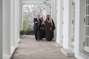 Donald Trump and Mohammad bin Salman (White House)