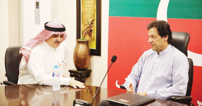Nawaf bin Said Al-Malki, Saudi Arabia's ambassador to Pakistan, called on Imran Khan, prime minister-in-waiting (Twitter)