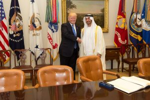 Donald Trump and Abu Dhabi Crown Prince Mohammed bin Zayed Al Nahyan (Wikimedia Commons)