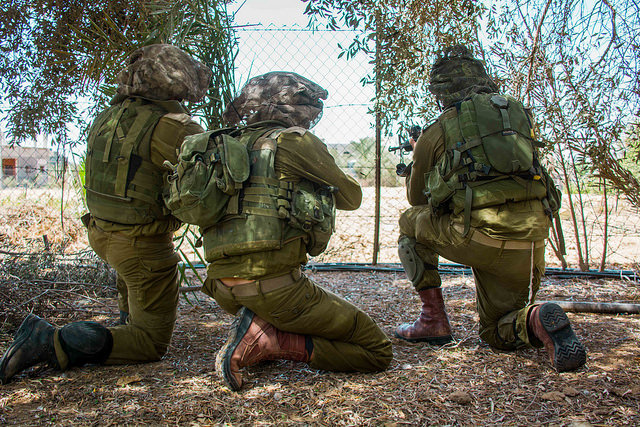 Israel Defense Forces paratroopers operating in Gaza (IDF via Flickr).