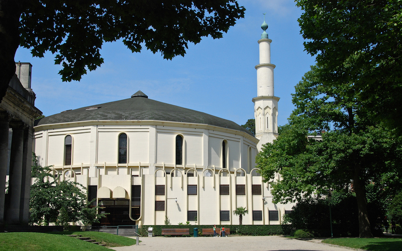 Image result for Grand Mosque in Brussels, photos