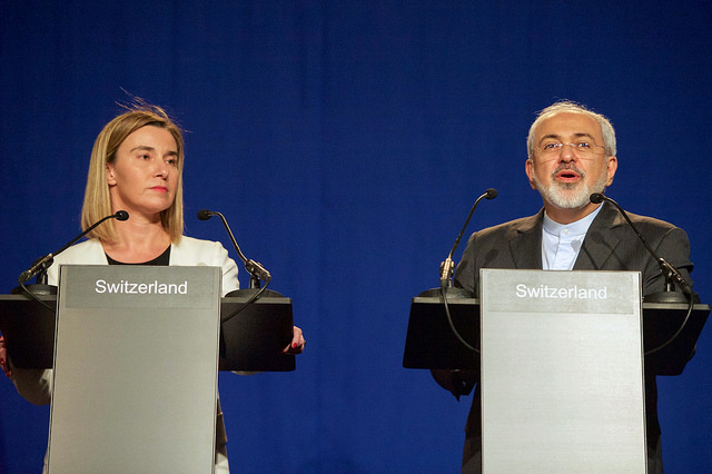 Federica Mogherini and Javad Zarif (U.S. State Department via Flickr).