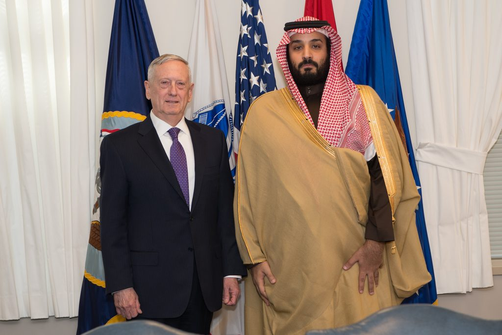 Jim Mattis and Mohammed bin Salman (Defense Department)