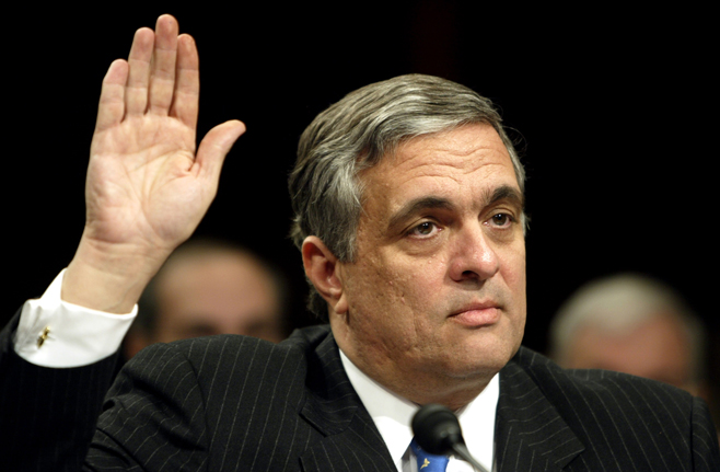 CIA DIRECTOR TENET IS SWORN IN AT 9/11 HEARING.