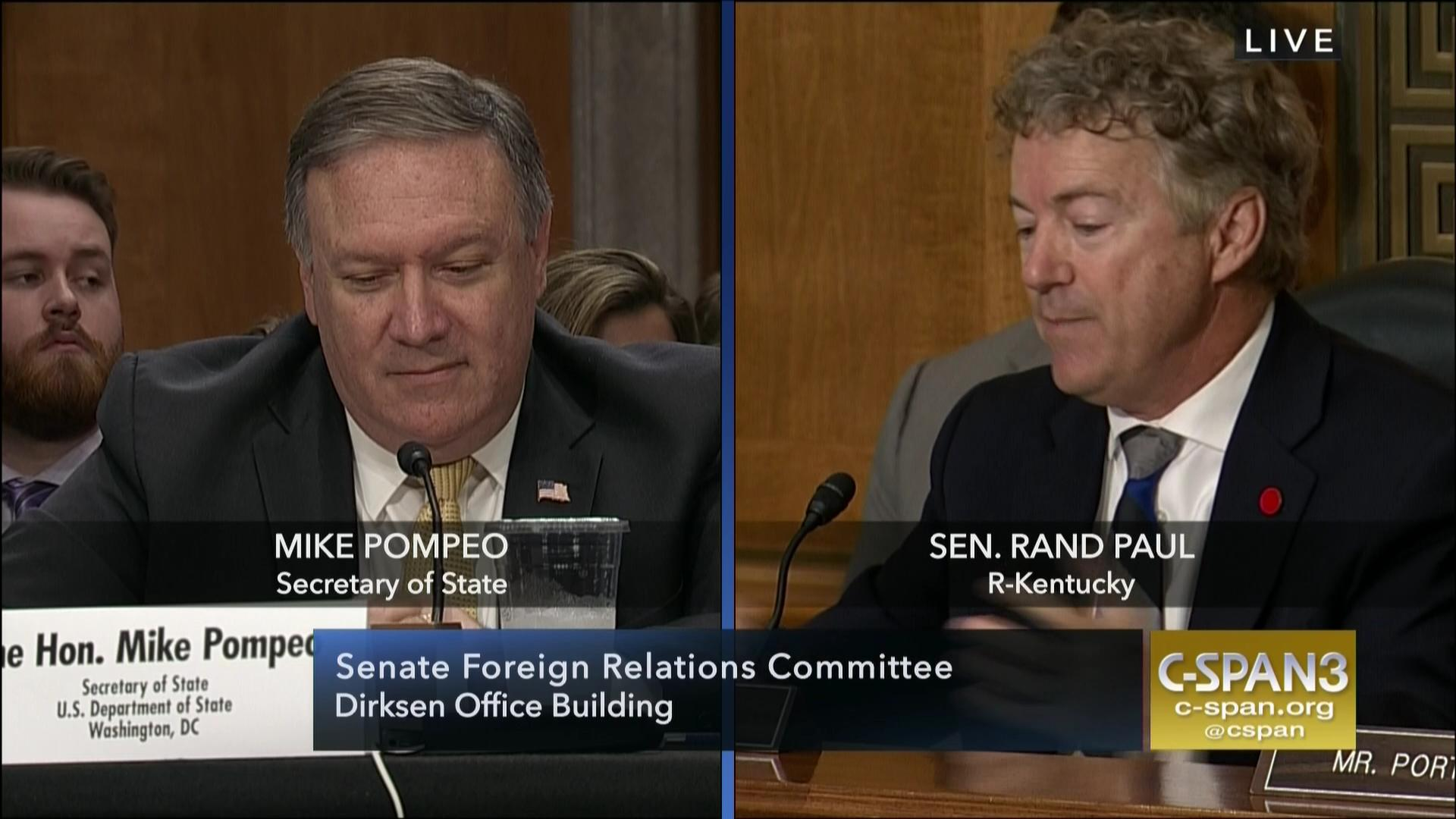 US Senator to Pompeo: You Have No 'Permission' for War with Iran