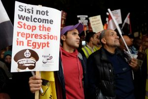 Protest against Egyptian President Abdel Fattah el-Sisi in London (Alisdare Hickson via Flickr)