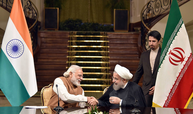 Narendra Modi and Hassan Rouhani (Narendra Modi via Flickr)