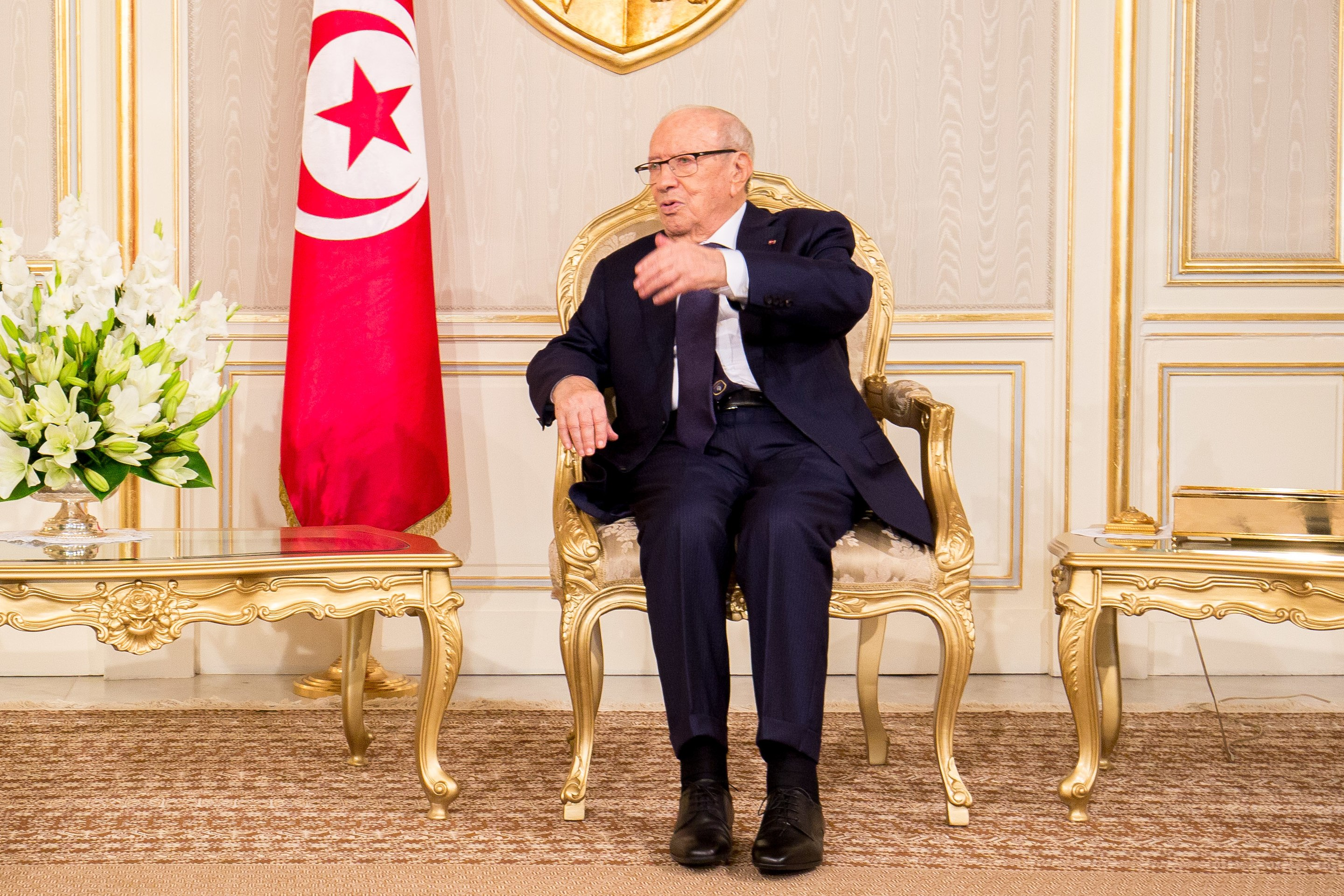 Tunisian President Beji Caid Essebsi (Wikimedia Commons/J. Marchand, ITU Pictures)