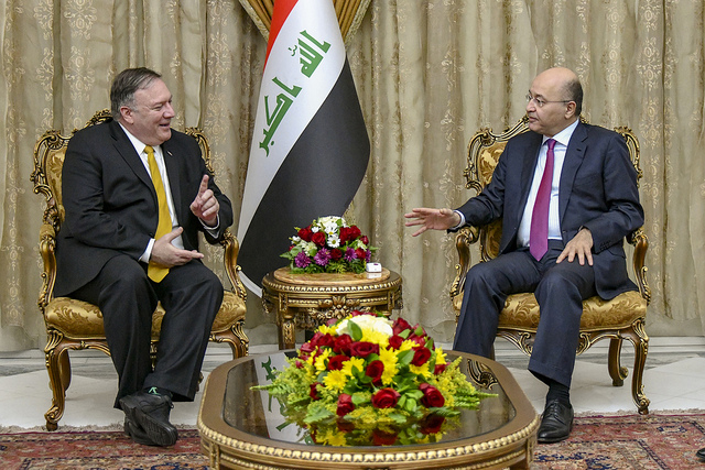 Mike Pompeo meets with Iraqi President Barham Salih (State Department via Flickr)