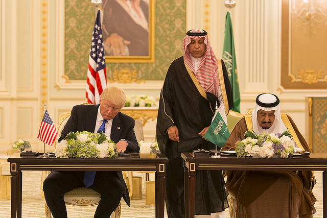 Donald Trump in Saudi Arabia (White House via Flickr)