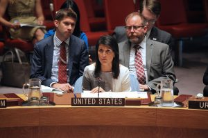 Nikki Haley at the UN (US Mission to the United Nations via Flickr)