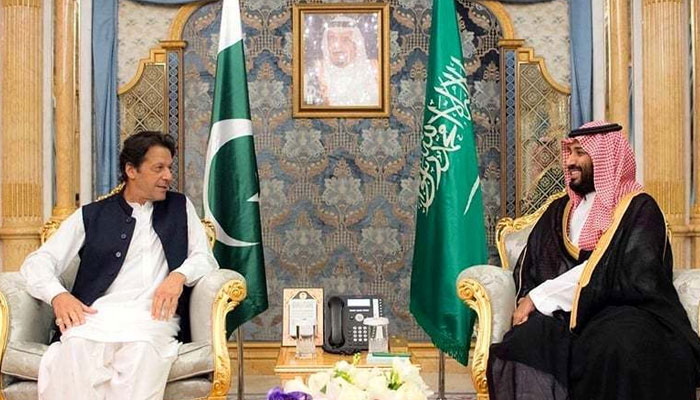 Imran Khan and Mohammed bin Salman