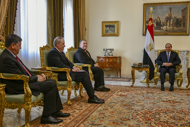 Mike Pompeo meeting Egyptian President Abdel Fattah el-Sisi (State Department via Flickr)