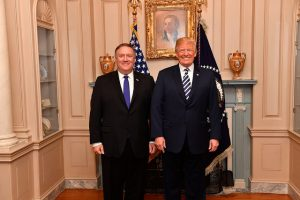 Mike Pompeo and Donald Trump (Department of State via Flickr)