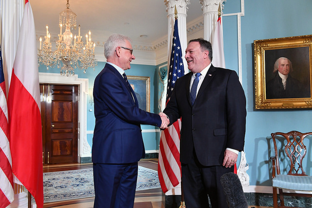 Jacek Czaputowicz and Mike Pompeo (State Department via Flickr)
