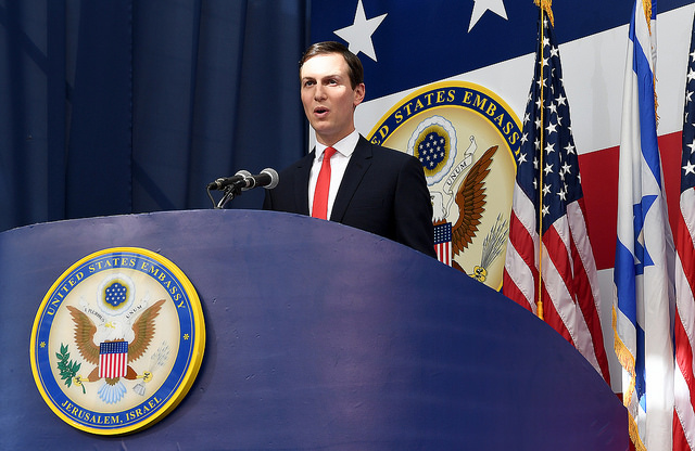 Jared Kushner at the opening of the U.S. embassy in Jerusalem (U.S. Embassy Jerusalem via Flickr)