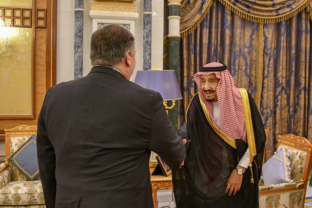 Mike Pompeo and King Salman (State Department via Flickr)