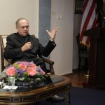 Alan Dershowitz at the U.S. ambassador's residence in Israel (US Embassy Jerusalem via Flickr).