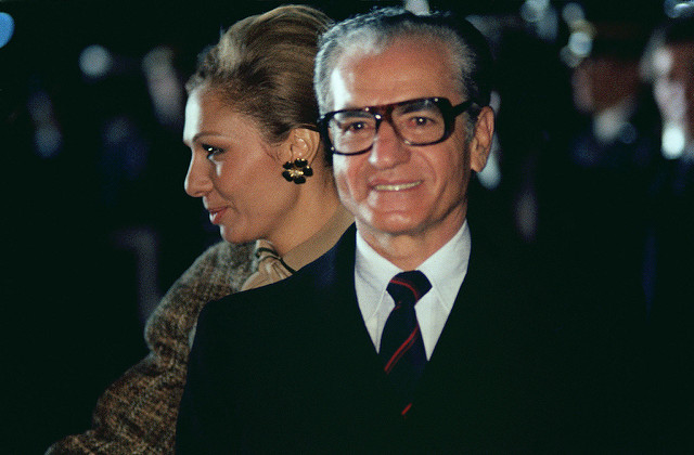 Mohammed Reza Pahlavi and his wife (DoD photo by Ssgt James R. Pearson)
