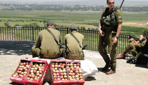 Israeli soldiers at Golan Heights