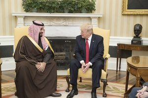 Mohammad bin Salman and Donald Trump
