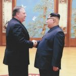 Mike Pompeo and Kim Jong Un