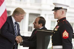 Donald Trump meets Abdel Fattah al-Sisi (Wikimedia Commons)