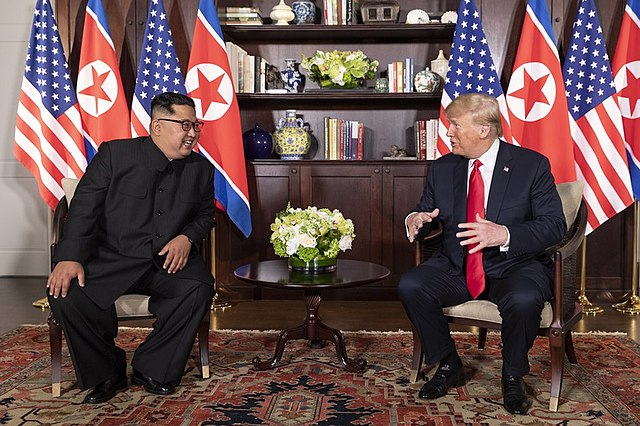 Kim Jong Un and Donald Trump (Dan Scavino via Wikimedia Commons)