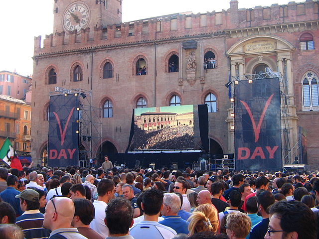 V-Day in Bologna (Wikimedia Commons)