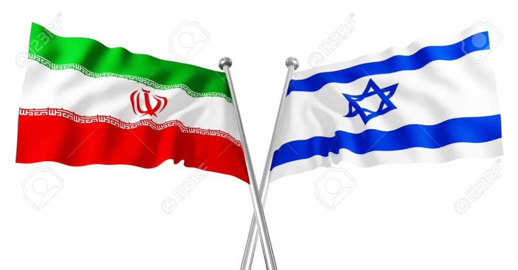 7318036-3d-flag-of-israel-and-iran-on-white-background-Stock-Photo