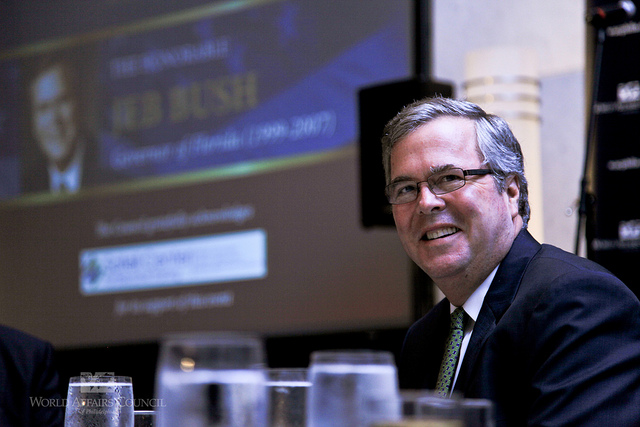 Jeb Bush at the World Affairs Council in Philadelphia