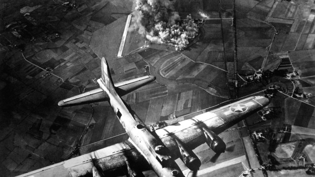 """The first big raid by the 8th Air Force was on a Focke Wulf plant at Marienburg.  Coming back, the Germans were up in full force and we lost at least 80 ships - 800 men, many of them pals.""  1943. Army Air Forces.  (OWI) Exact Date Shot Unknown NARA FILE #:  208-YE-7 WAR & CONFLICT BOOK #:  1087"
