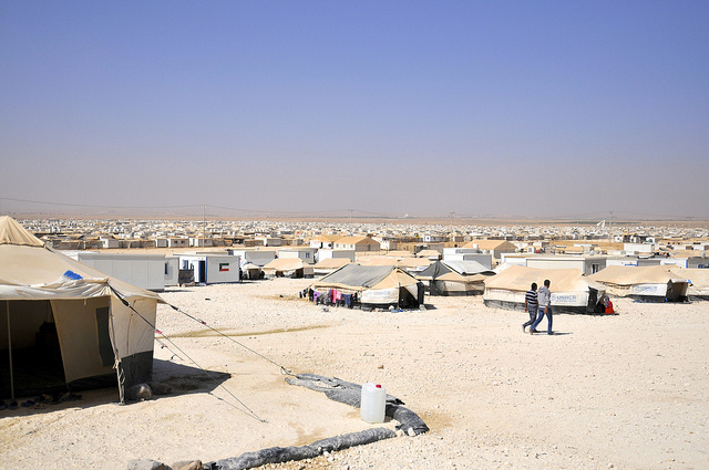 Syrian refugee camp in Jordan (Foreign and Commonwealth Office via Flickr)
