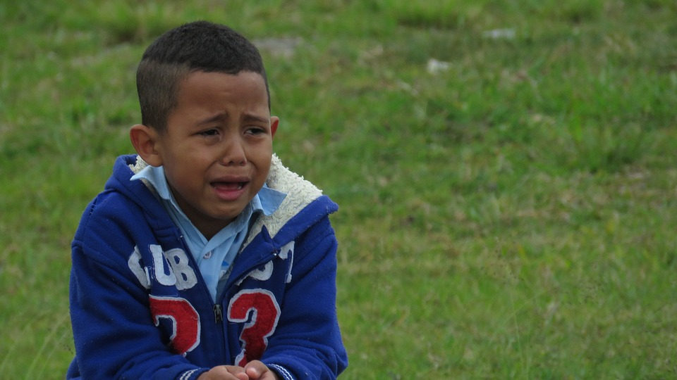 Alone Lost Kid Park Emotions Guy Child Crying