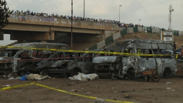 A Boko Haram bomb attack in Nigeria's capital, Abuja, on Apr. 14, 2014, claimed 75 lives. Credit: Ayo Bello