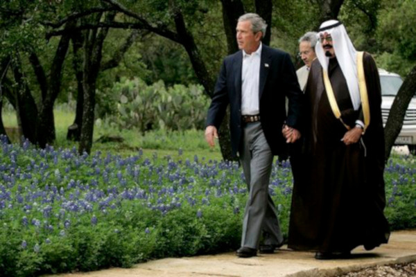 George W. Bush and Prince Abdullah (David Bohrer,/White House)