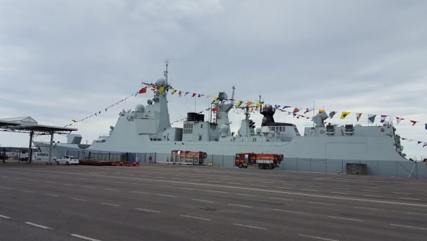 Chinese naval vessel full length