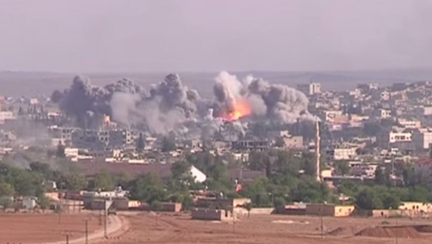 Coalition_Airstrike_on_ISIL_position_in_Kobane