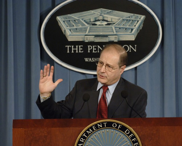 070403-D-2987S-036  	Under Secretary of Defense for Policy Eric Edelman conducts a Pentagon press briefing on Missile Defense on April 3, 2007.  DoD photo by Helene C. Stikkel.  (Released)