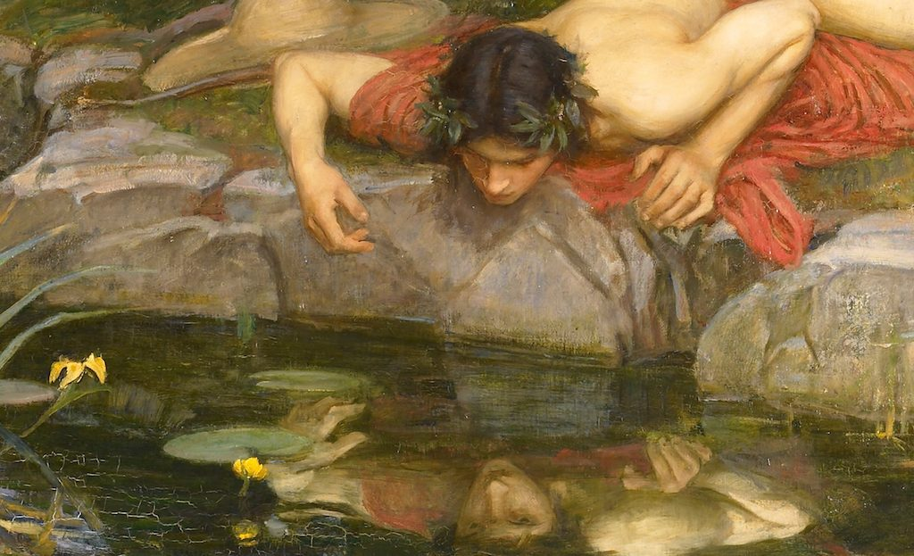 Detail from Echo and Narcissus by J.W. Waterhouse