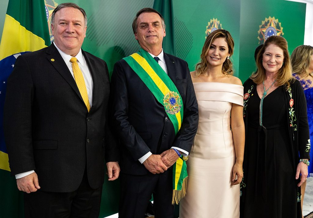 Brazilian President Jair Bolsonaro with U.S. Secretary of State Mike Pompeo (Wikimedia Commons)