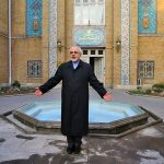 Javad Zarif outside Iranian Ministry of Foreign Affairs (Wikimedia Commons)