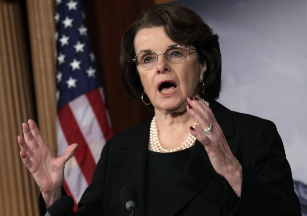 U.S. Senate Intelligence Committee Chairman Senator Feinstein speaks to the media on NRA/assault weapons in Washington