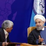 Hassan Rouhani at Non-Aligned Movement ministerial meeting in 2015