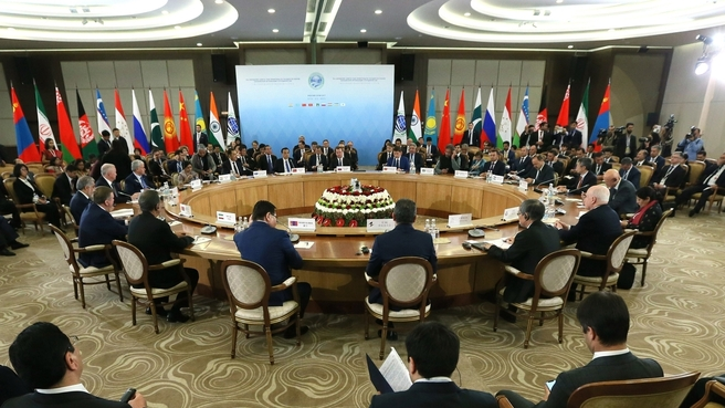 PM Narendra Modi addresses plenary session, joins SCO leaders for group photo