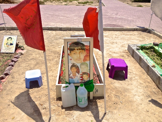 A child buried near the village of al-Kharijiya.