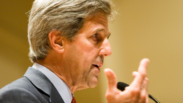 John Kerry, US Senator from Massachusetts, speaks in 2005.