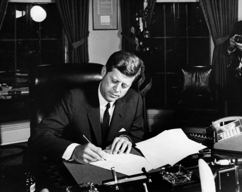 Kennedy signs Proclamation 3504