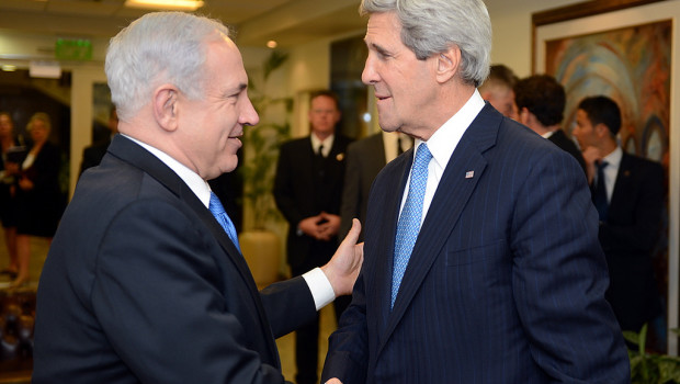 Israeli PM Benjamin Netanyahu and US Secretary of State John Kerry