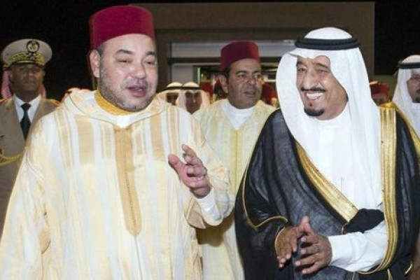 Moroccan King Mohammed VI and Saudi King Salman